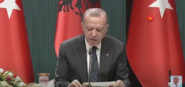 Başkan Erdoğan Arnavutluk Başbakanı Edi Rama ile Ortak Basın Toplantısı yapıyor